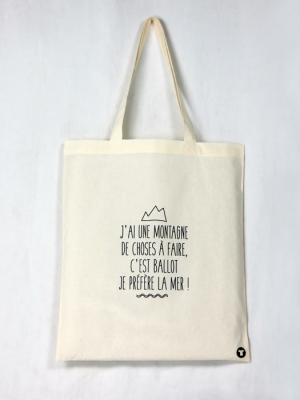Tote Bag bio - Je préfère la mer...