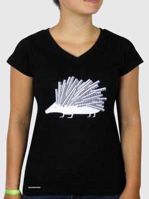 Tee-shirt Bio Femme - Hérisson (Mathieu Desailly)