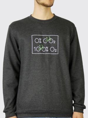 Sweat unisexe sans capuche - Vélo 0% dioxyde de carbone, 100% Oxygène