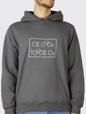 Sweat à capuche unisexe - Vélo 0% dioxyde de carbone, 100% Oxygène