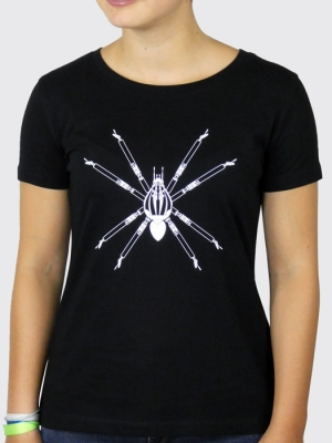 Tee-shirt Bio Femme  - Anima(Ex)Musica - Araignée (Mathieu Desailly)