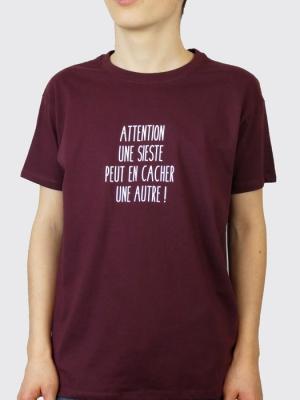 Tee-shirt - Attention une sieste peut en cacher une autre !