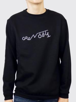 Sweat unisexe sans capuche - Grenoble graphique