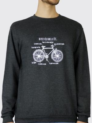 Sweat unisexe sans capuche - Un petit vélo dans la tête
