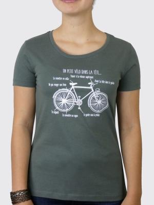 Tee-shirt Bio Femme - Un petit vélo dans la tête ...