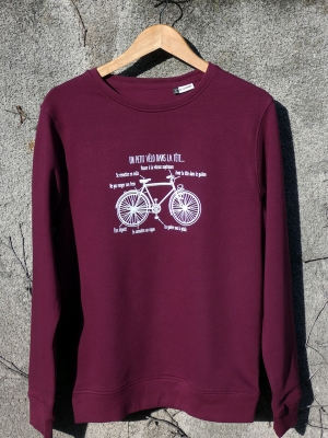 Sweat Bio sans capuche unixexe - Un petit vélo dans la tête
