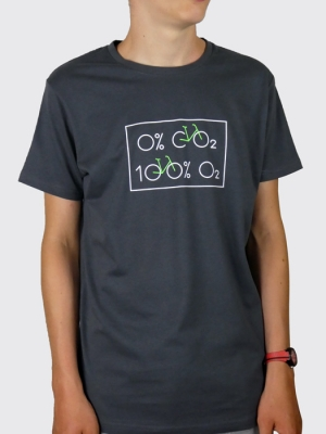 Tee-shirt - Vélo  0% dioxyde de carbone, 100% Oxygène