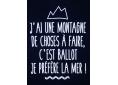 T shirt homme humour drôle rigolo montagne mer manche courte bleu marine France