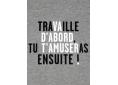 T Shirt graphisme original de Vincent Perrottet travaille manche courte gris chiné France