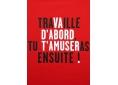 T Shirt graphisme original de Vincent Perrottet travaille manche courte rouge France