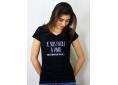 T shirt femme humour drôle rigolo  facile à vivre manche courte noir col V France