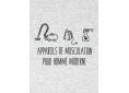 T shirt homme humour drôle rigolo avec jeux de mots graphisme original  musculation manche courte blanc chiné France