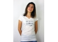 T shirt femme poétique  jeux de mots  manche courte blanc col V France