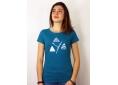 T shirt femme coton biologique graphisme original le Y de Grenoble Belledonne Chartreuse Vercors manche courte bleu canard