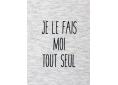 T shirt enfant  humour drôle rigolo je le fais moi tout seul manche courte blanc chiné France