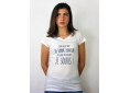 T shirt femme humour drôle rigolo avec jeux de mots manche courte blanc col V france