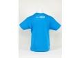 T shirt enfant  graphisme original serré comme des sardines manche courte bleu atoll France