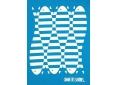T shirt fille  graphisme original serré comme des sardines manche courte bleu atoll France