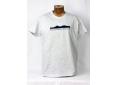 T shirt homme graphisme original Belledonne manche courte blanc chiné France
