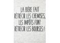 T shirt homme humour drôle rigolo avec jeux de mots bière impôts chemise bourse manche courte blanc chiné France