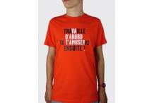 Tee-shirt Bio Homme - Travaille ou va d'abord t'amuser ... (Vincent Perrottet)